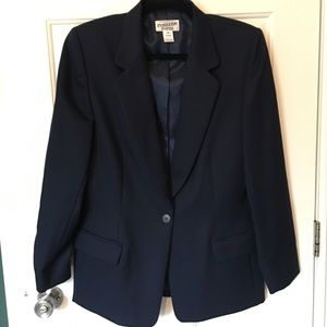 Pendleton Blazer 12 Tall Navy Blu 100% Virgin Wool